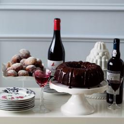 Double-Chocolate Bundt Cake with Ganache Glaze