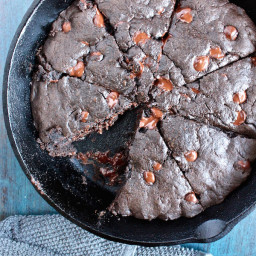 Double Chocolate Coconut Oil Skillet Cookie Recipe