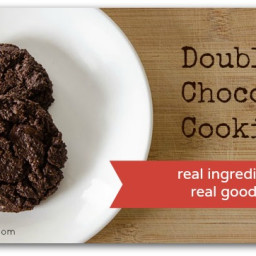 Double chocolate cookies (using only REAL ingredients)