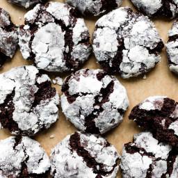 Double Chocolate Crinkle Cookies