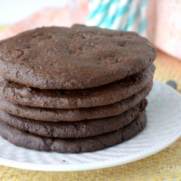 Double Chocolate 'Peanut Butter' Cookies