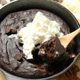 Double Chocolate Skillet Brownie (Gluten-Free, Vegan, Allergy-Free)