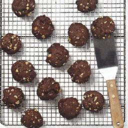 Double Chocoloate Chunk Walnut Cookies