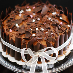 Double Dark Chocolate Cake with Chocolate Cream Cheese Frosting