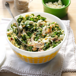 Double-Duty Chicken and Feta Spinach Salad Recipe