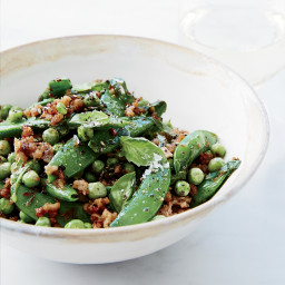 Double-Pea Sauté with Ground Pork