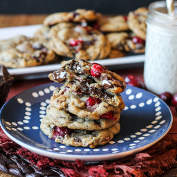 Double Cranberry Chocolate Chunk Cookies
