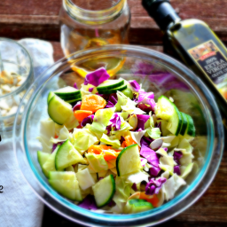 Dr. Oz Inspired Protein Packed Cabbage Salad