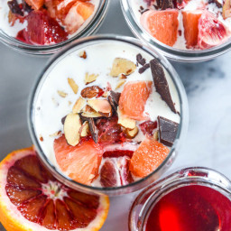 Dreamy Vanilla Bean and Blood Orange Chia Pudding