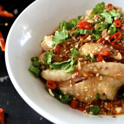 Drool-worthy Sichuan Chicken in Chili Oil Sauce (Kou Shui Ji)