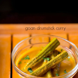 drumstick curry recipe, how to make goan drumstick curry recipe
