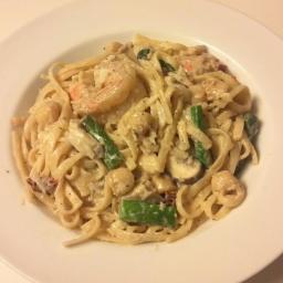 Drunken Seafood Pasta