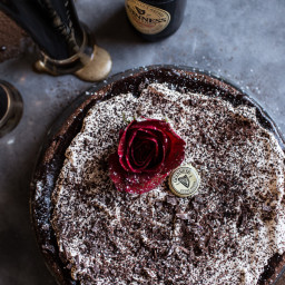 Drunken, Sunken Irish Coffee Chocolate Cake with Salted Baileys Cream