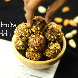 dry fruits laddu recipe | dry fruits ladoo recipe - no sugar, no jaggery