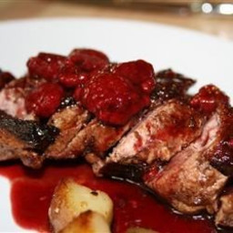 Duck Breasts with Raspberry Sauce