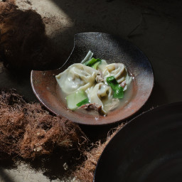 Duck Dumpling Soup
