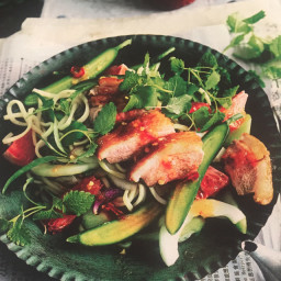 Duck and Cucumber Salad with Chilli Ginger Dressing
