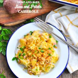 Dump-and-Bake Cheesy Ham and Potato Casserole