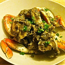 Dungeness Crab with Black Bean Garlic Sauce