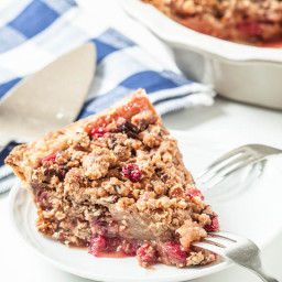 Dutch Apple Cranberry Pie