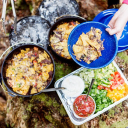 Dutch Oven Camp Nachos