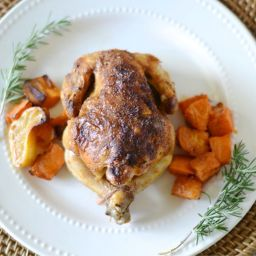 Dutch Oven Cornish Hens and Potatoes