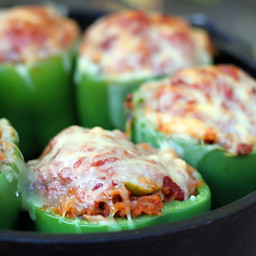 Dutch Oven Stuffed Peppers