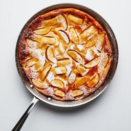 Easiest Caramel Apple Clafoutis