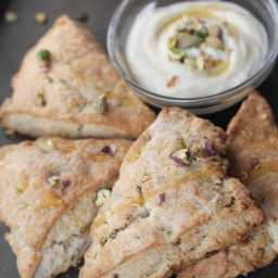 Easter Lemon Pistachio Scone with Whipped Honey Ricotta