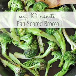 Easy 10 Minute Pan-Seared Broccoli