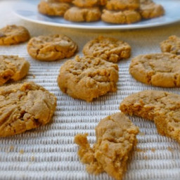 Easy 4 Ingredient Peanut Butter Button Cookies