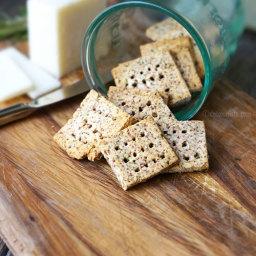 Easy Almond Pulp Crackers (Vegan, Paleo)