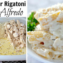 Easy and Creamy Chicken Alfredo made in the Crock-Pot