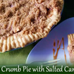 Easy Apple Crumb Pie with Salted Caramel Sauce
