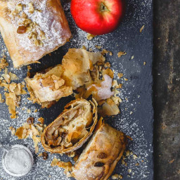 Easy Apple Strudel with Phyllo