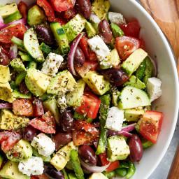 Easy Avocado Greek Salad