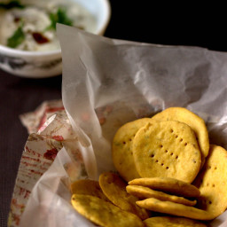 Easy Baked Chickpea Flour Crackers and Some Star Wars Musings