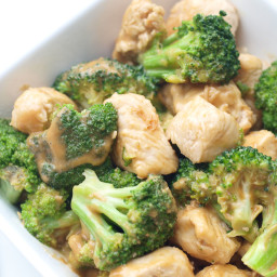 Easy Broccoli and Chicken with Peanut Sauce