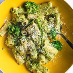 Easy Broccoli Pesto Pasta Salad (Healthy, Gluten-free, Vegan)