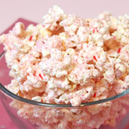 Easy Candy Cane Popcorn For Christmas