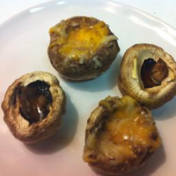 Easy Cheesy Mushrooms