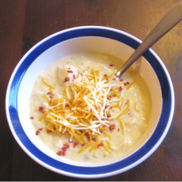 Easy Cheesy Potato Soup Recipe! (Slow-Cooker and Stovetop Version)