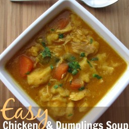 Easy Chicken Dumplings Soup with Pumpkin Recipe