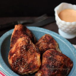 Easy Chicken Paprika w/ Sour Cream Gravy (Low Carb and Gluten Free)