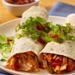 Easy Chicken-Rice Burritos