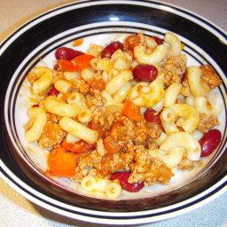 Easy Chili Macaroni Chili Mac