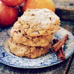 Easy Cinnamon Apple Cookies {grain free, gluten free, refined sugar free, d