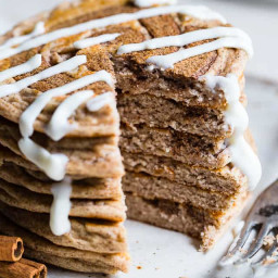 Easy Cinnamon Roll Gluten Free Low Carb Keto Protein Pancakes Recipe