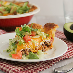 Easy Crescent Taco Pie