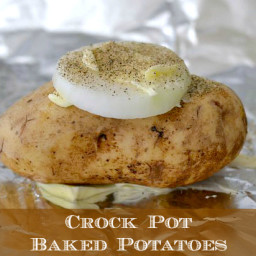 Easy Crock Pot Baked Potatoes
